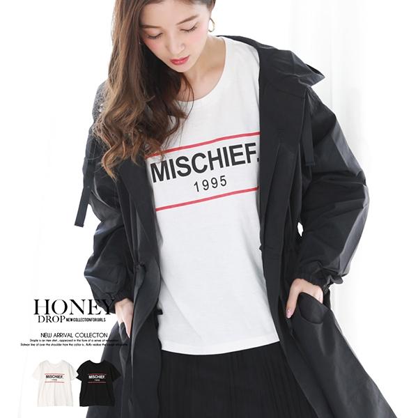 【2019春夏新作】ラインロゴプリントTシャツ