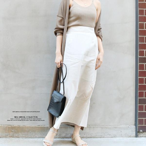 【2020春夏新作】麻ライクストレートスカート