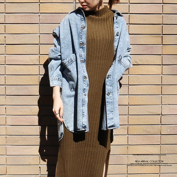 【予約3月中旬】【2021春夏新作】オーバーサイズデニムシャツジャケット
