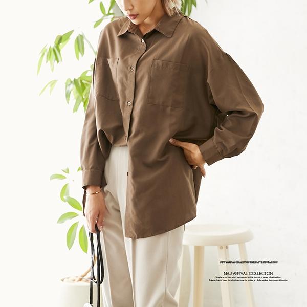 【セール】【2020秋冬新作】エステル起毛オーバーサイズシャツ/トップス/2020新作