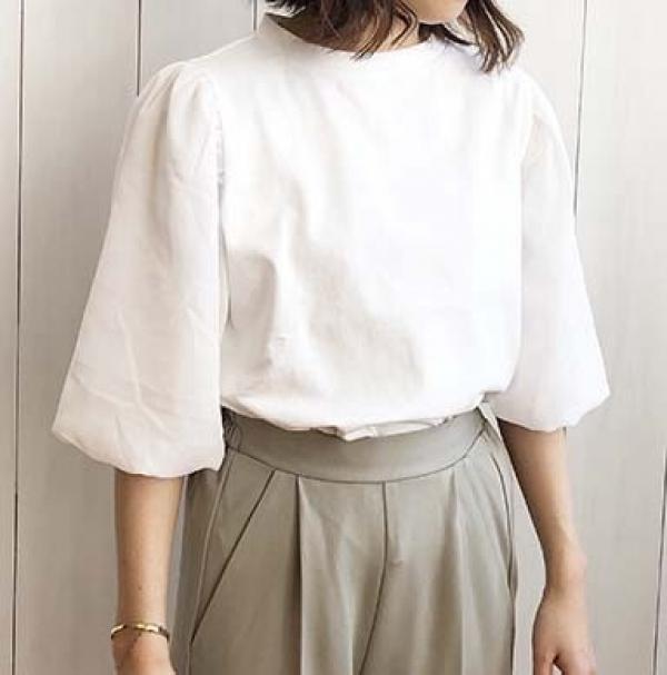 【2021春夏新作】シアーバルーンスリーブ Tシャツ/y226/s20