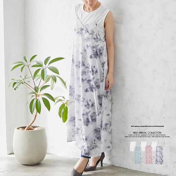 【2021春夏新作】Tシャツ付シフォンジョーゼットPTキャミワンピース
