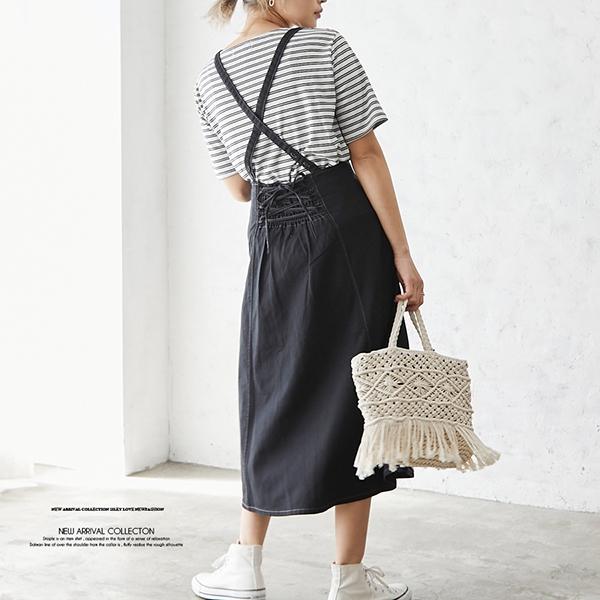 【2021春夏新作】サス付きツイルスカート