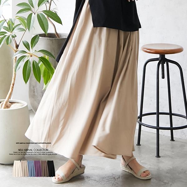 【2021春夏新作】リネンギャザースカート