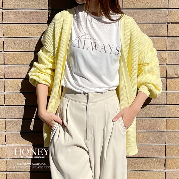 【2021春夏新作】ALWAYSプリントTシャツ/ロンT