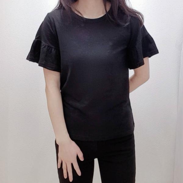 【予約6月上旬】【2021春夏新作】袖フリルTシャツ