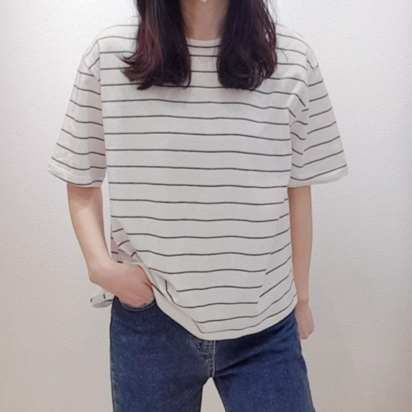 【予約6月上旬】【2021春夏新作】ボ-ダ-Tシャツ