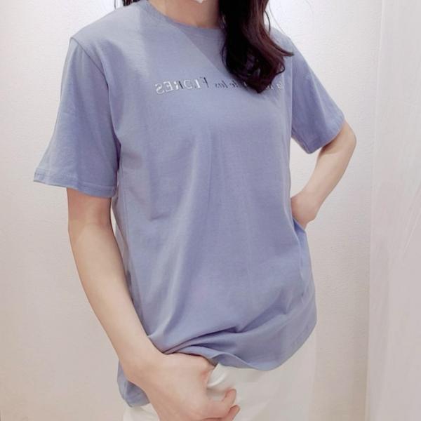【予約6月上旬】【2021春夏新作】箔プリントロゴTシャツ
