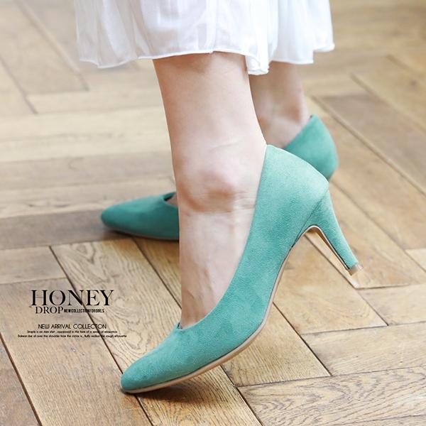 【6colorから選べる】【SALE】7cmポインテッドパンプス/シューズ/靴/ベーシック/シンプル/定番
