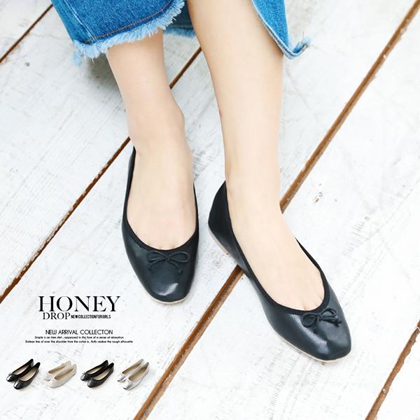 【SALE】スクエアフラットシューズ/靴