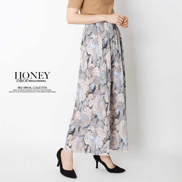 【2019春夏新作】ボタニカルプリントスカート/2019新作