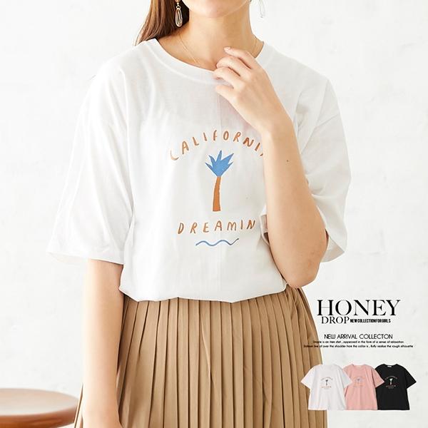 【2020春夏新作】ロゴ入半袖Tシャツ/CALIFORNIADREAMIN/トップス/韓国製