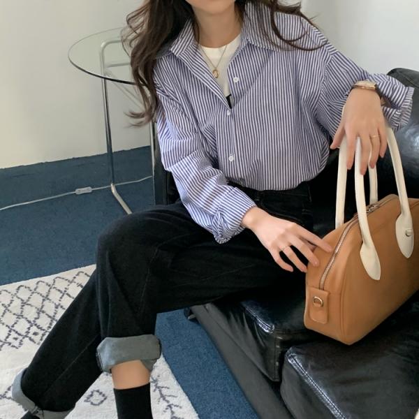 【2021春夏新作】ストライプシャツ/y0317