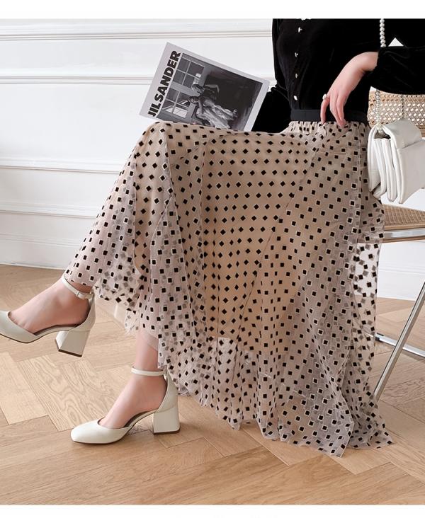 【2021春夏新作】ドットプリントスカート/y30