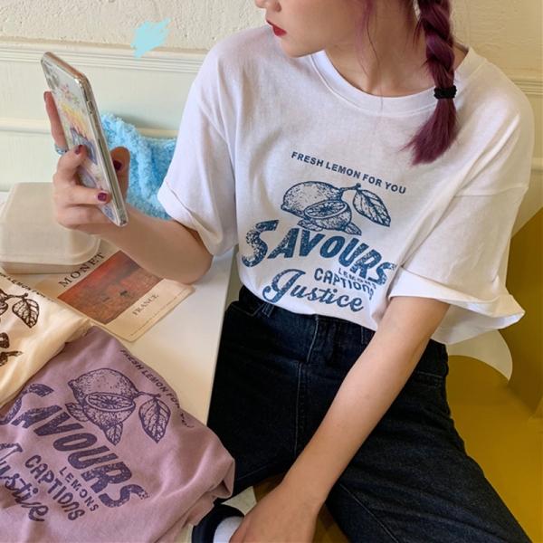 【予約8月中旬】【2021春夏新作】プリントTシャツ/y0726