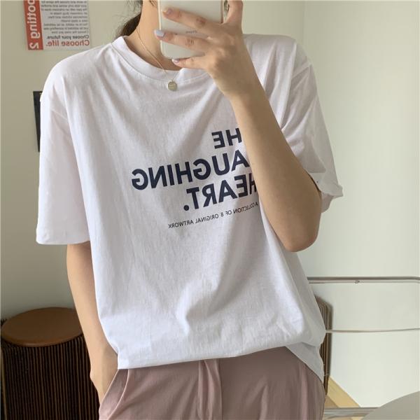 【予約5月上旬】【2021春夏新作】ワンポイントTシャツ/y0409n0507