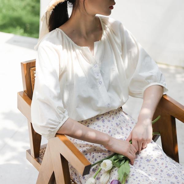 【予約5月上旬】【2021春夏新作】シンプルシャツ/y0409n0507